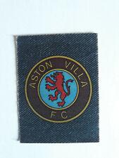1975 Aston Villa Monty Gum (Netherlands) Denim Styled Club Emblem Card