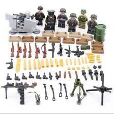 Lot figurines Militaire Allemand WW2 Soldats compatible avec Lego