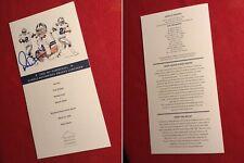 Authentic autograph MICHAEL IRVIN signed Dallas Cowboys Triplets lunch program