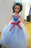 SNOW WHITE DOLL BLACK HAIR NEW OUTFIT RED HIGH HEELS