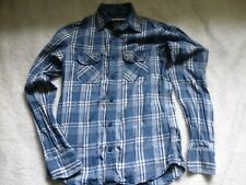 MENS BLUE CHECK SHIRT BY SUPERDRY SIZE M WORN 2/3 TIMES EXCELLENT CONDITION
