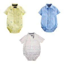Oshkosh Bgosh / Baby Bgosh Boys Bodysuit Button Up...