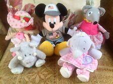 Toy Bundle - Assorted Soft Plush Toy Bundle Mickey Mouse Humphrey Blue Nose etc.