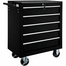 Carro de herramientas con 5 cajones taller caja garaje Macanico cerradura negro