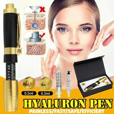Hyaluron Pen 2 en 1 de dos cabezales 0.3ml & 0.5ml Ácido Hialurónico Labios Relleno de la aguja sin