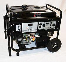 3PLUS 6000 Watt Portable Gas Generator Electric Start 14HP, 4Cycle, Power Backup
