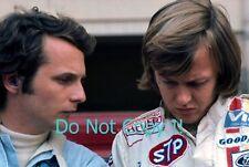 Ronnie Peterson & Niki Lauda March F1 Portrait 1972 Photograph