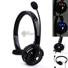 Noise Cancelling Wireless Over The Head Bluetooth Boom Mic Headset For Trucker