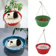 Small Pet Hamster Budgie Bird Parrot Bed Nest Hanging Basket Hammock with a Mat