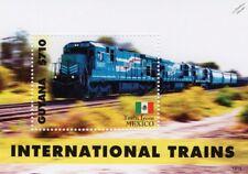 FERROSUR (FSRR Mexico Railways) GE Class C30-7 MP Train Locomotive Stamp Sheet