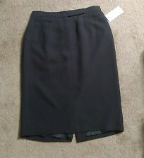 NWT ANNE KLEIN Black Pencil Skirt Professional Womens Size 10 Knee Length Career