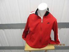 VINTAGE NIKE ZIP-UP WINDBREAKER LARGE JACKET PRE-OWNED RED/BLACK/WHITE POLYCOTTO