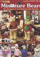 Miniature Bears Crochet Pattern Booklet Christmas Holiday