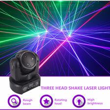Mini 3 Lens RGB Beam Shark Moving Laser Light DMX Home Party DJ Stage Lights Yc