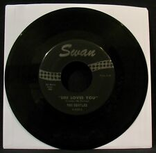 THE BEATLES-She Loves You & I'll Get You-A Beautiful 45 -SWAN #S-4152-Deco Art