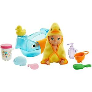 Barbie Skipper Babysitters Inc. Bath-time Baby Doll and Accessories
