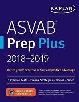 Kaplan Test Prep: ASVAB Prep Plus 2018-2019 : 6 Practice Tests + Proven Strategi