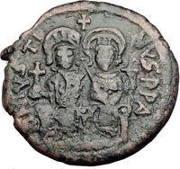JUSTIN II & SOPHIA 565AD Cyzicus Follis Authentic Ancient Byzantine Coin i64951