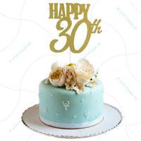 joyeux 30ème gâteau toppers fête fournitures anniversaire décoration de fê TRF
