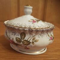 Vintage Chodziez Trinket/Sugar Dish Made In POLAND.Beautiful Rosebud Design.10cm