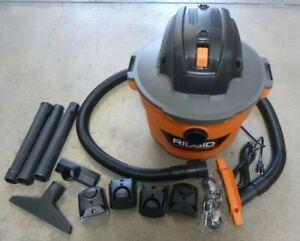 RIDGID HD0900 9-GALLON WET DRY SHOP VAC 4.25HP 34L W/ ATTACHMENTS