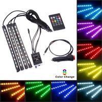 Car RGB LED Strip Interior Light Multicolor Music Atmosphere Sound Active JL