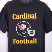Louisville Cardinals T Shirt Vintage 90s Cardinal Football Deadstock Size Large