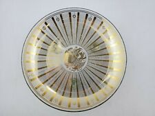 Vintage Mcm Georges Briard Signed Footed Serving Dish Plate w/ Gold Fish Design