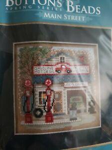 Joe's Garage Cross Stitch Kit Mill Hill 2016 Buttons & Beads Spring MH141614
