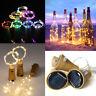 8/10/15/20 LED Solar Wine Bottle Cork Shaped String Fairy Light Night Lamp Xmas