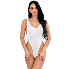 Women One-Piece Swimsuit Swimwear High Cut Yoga Leotard Thong Bodysuit Monokini