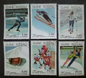 Guine-Bissau 1983 Winter Olympic Games -Sarajevo, Bosnia & Herzegovina - 6v Used