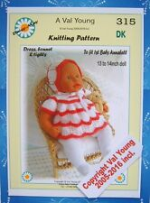 1 DOLLS KNITTING PATTERN to fit 1st Baby Annabell 13 /14 inch Doll 315 Val Young