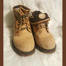 Timberland Waterproof Wheat Leather Fold-Over Lace-Up