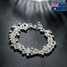 925 Sterling Silver Filled Lovely Beads Ball Bracelet