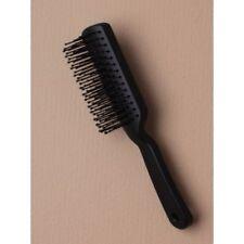 ,PURSE / BAG SIZED Black Rectangle Hairbrush Plastic Vented 16CM Styling Brush