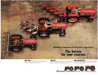 Vintage Massey Ferguson 35x 65 Super 90 Line-Up Tractor Poster Brochure Art A3