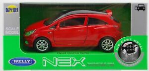 WELLY OPEL VAUXHALL CORSA D OPC RED 1:34 DIE CAST METAL MODEL NEW IN BOX
