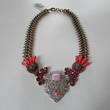 Lulu Frost for J Crew TROPICALE STATEMENT NECKLACE~Pink Rose~b3568~NWT