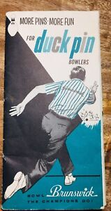 Vintage 1958 Duck Pin Bowlers Brunswick  Instruction