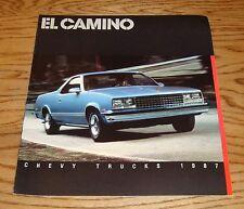 Original 1987 Chevrolet El Camino Sales Brochure 87 Chevy