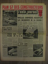 L'AUTO JOURNAL 157 DU 1 09 1956 SIMCA MARLY DAUPHINE AMERICAINES SCOOTER PEUGEOT