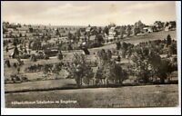 Schellerhau Sachsen Erzgebirge DDR Postkarte Teilansicht Häuser Felder gelaufen