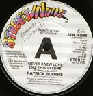 """PATRICK BOOTHE never knew love like this before STR A2596 demo 1982 uk 7"""" WS EX/"""