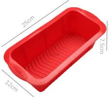 Non-Stick Silicone Bread Loaf Cake Mold Bakeware Baking Pan Rectangle Mould DIY