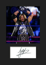 AJ STYLES #1 (WWE) Signed (Reprint) Photo A5 Mounted Print - FREE DELIVERY