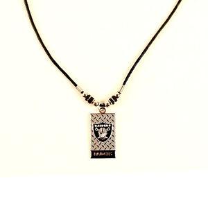 OAKLAND RAIDERS NFL Diamond Plate Style Necklace - FREE U.S. Shipping !