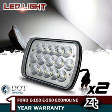 2X LED Headlights Fit Ford E-150 E-350 Econoline Club Wagon 92-14 E250 Cargo Van