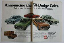 DODGE COLT 1974 magazine advert - English - USA