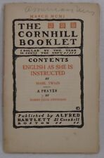 MARK TWAIN English As She Is Instructed ILLUSTRATED Cornhill Booklet 1901 Wraps!